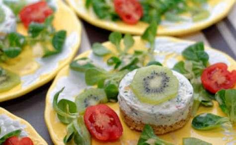 Cheese-cake salé aux kiwis