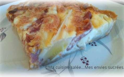Tarte poireaux - jambon - fromage tartiflette