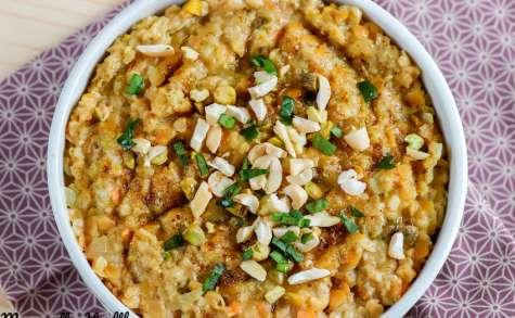 Porridge salé façon dal de lentilles corail