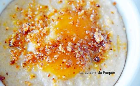 Crème au fonio semi-complet, sans gluten et vegan