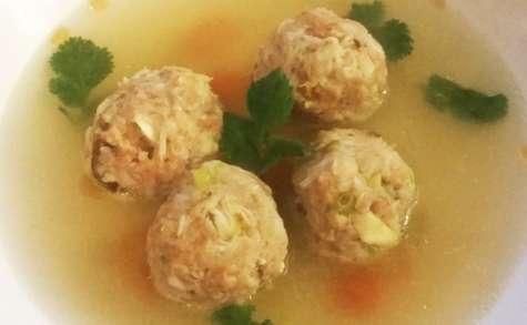 Soupe de Boulettes Porc-Crabe, façon Bakso