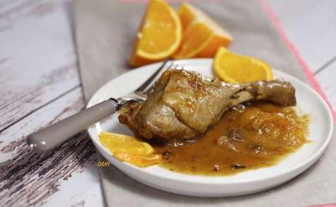 Cuisses de canard à l'orange et aux épices