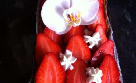 Tarte aux fraises sur lit de crème pâtissière