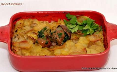 Gratin de pommes de terre aux Cèpes Magda.