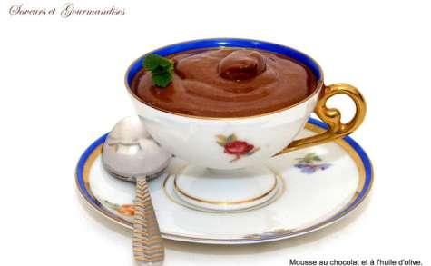 Mousse au Chocolat et à l'huile d'Olive