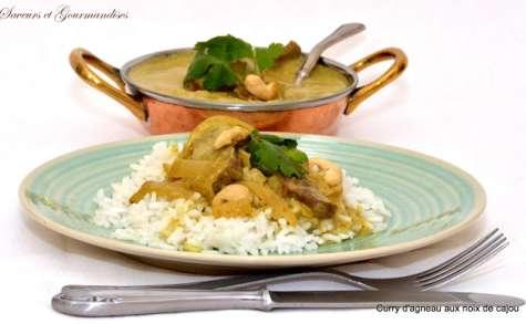 Curry d'agneau aux noix de Cajou.