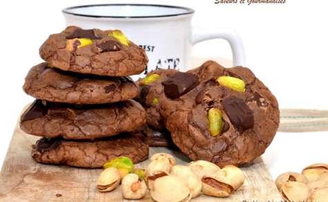 Cookies chocolat et pistaches.