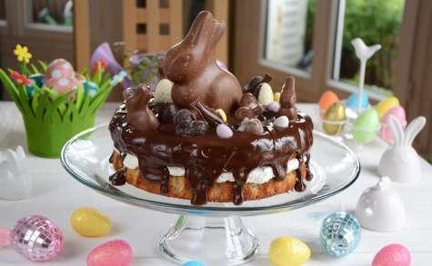 Gâteau noisettes et chocolat de Pâques