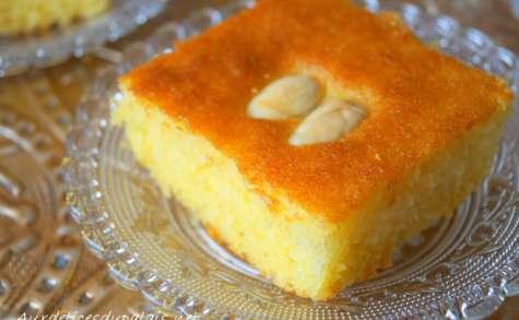 Basboussa gâteau de semoule pour Ramadan