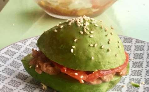 Recette : Avocado Burger au saumon fumé artisanal