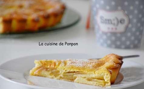 Flamusse aux pommes et ricotta, sans beurre - La cuisine de Ponpon: rapide et facile!