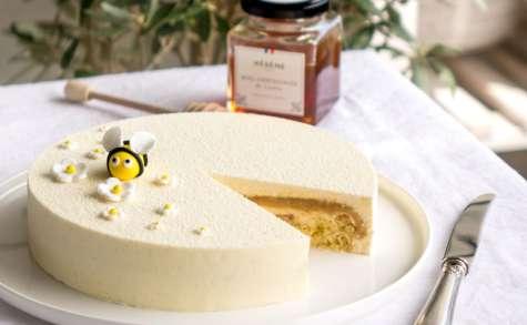 Entremets au miel de châtaignier