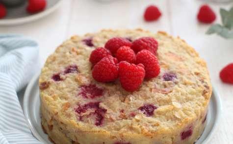 Gâteau de pain perdu aux framboises