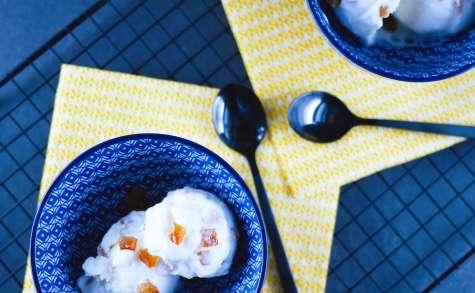 Frozen yogurt léger au miel et oranges confites