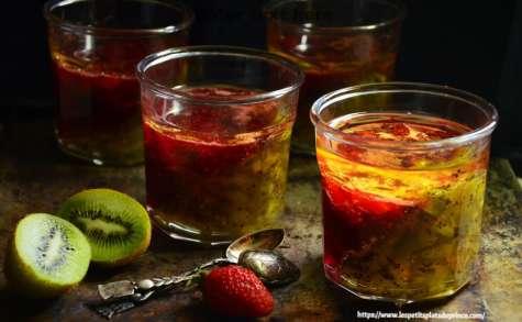 Confiture bicolore oblique fraise kiwi