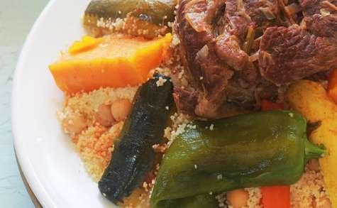 Couscous marocain aux légumes avec ou sans viande