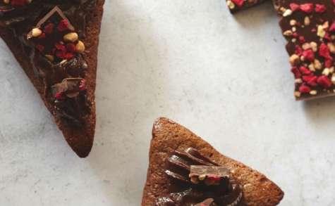 Triangles fondant au chocolat