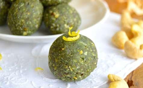 Bouchées crues au citron, pavot et protéines végétales