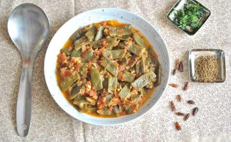 Loubieh bi zeit (haricots à la tomates)