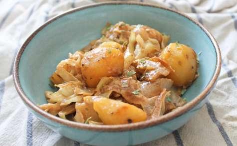 Poêlée de pommes de terre et chou
