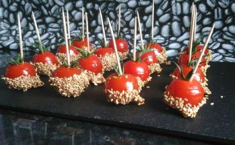 Les tomates d'amour au miel et sésame