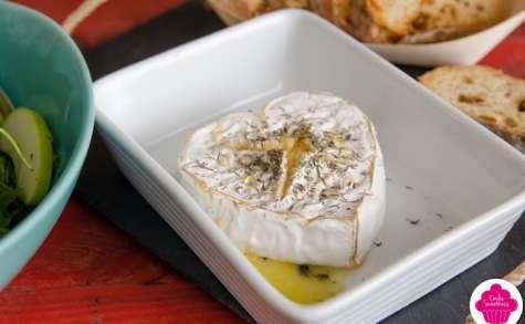 Cœur coulant à partager - fromage cœur de Neufchâtel entier cuit - recette express
