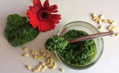 Pesto de pousses d'épinards