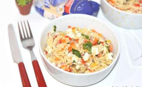 Salade de pépinettes, poivron, féta