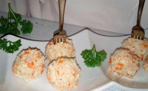 Boulettes apéritives au surimi mascarpone fines herbes