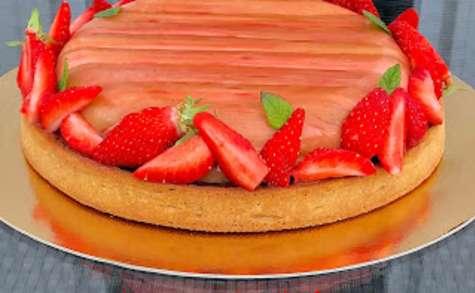 Tarte rhubarbe-fraise