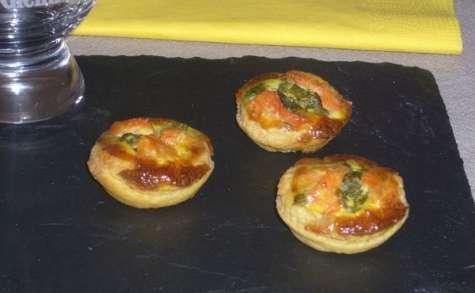 Tartelettes de saumon fumé à l'oseille