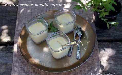 Petites crèmes menthe et verveine citronnelle