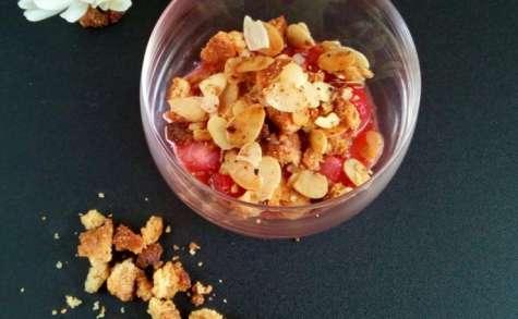 Crumble aux fraises gingembre vanille