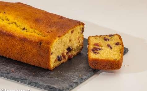 Gâteau du matin à la vanille et aux cranberries