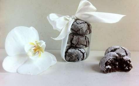 Les biscuits craquelés au chocolat amer