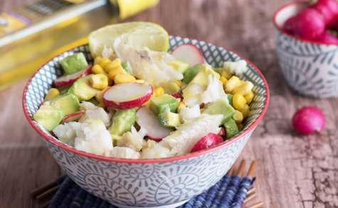 Salade merlan citron curry