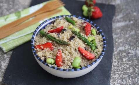 Salade de quinoa printanière au tartare d'algues