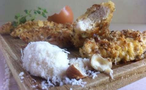 Blancs de poulet à la panure de noisettes/parmesan - NathyChef