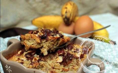 Baked oatmeal à la banane, au chocolat et aux noisettes - sans lactose