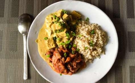 Curry de tofu au lait de coco