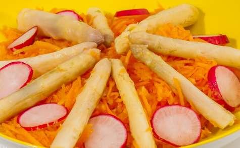 Salade de carottes aux pointes d'asperges