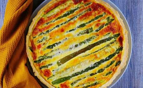 Tarte aux asperges vertes et parmesan