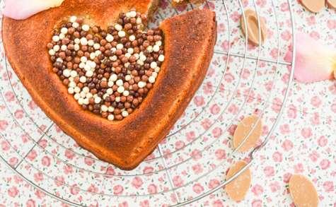 Coeur de financier chocolat Dulcey & noisettes