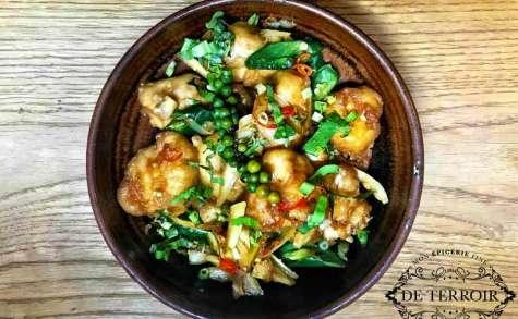 Salade de joues de raie à la thai