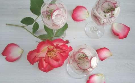 Verrine de radis rose au fromage blanc