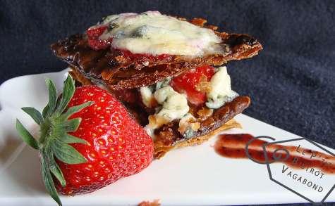Un Croustillant de fraises au Stilton et Porto