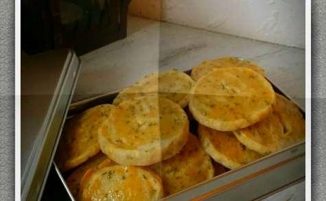 Crackers maison parmesan et romarin