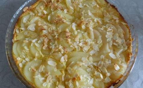 Tarte aux poires pâte crouti-moelleuse à la semoule