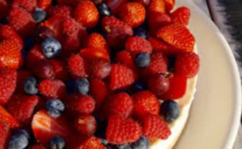 Cheesecake aux fruits rouges sans cuisson