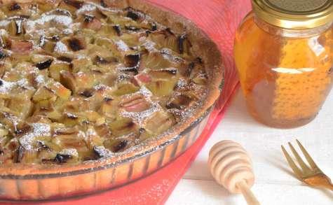 Tarte rhubarbe chèvre et miel